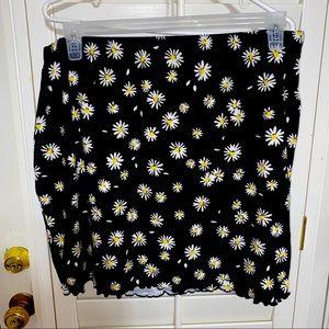 NWOT! Super Cute Sunflower Skirt! XL